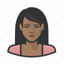 avatar, dinner attire, female, millennial, user, woman icon