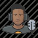 avatar, disc jockey, male, man, millennial, user icon