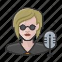 avatar, disc jockey, dj, female, millennial, user, woman icon