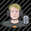 avatar, disc jockey, dj, male, millennial, user icon