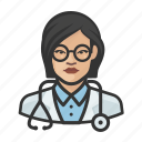 asian, avatar, doctor, female, healthcare, user, woman