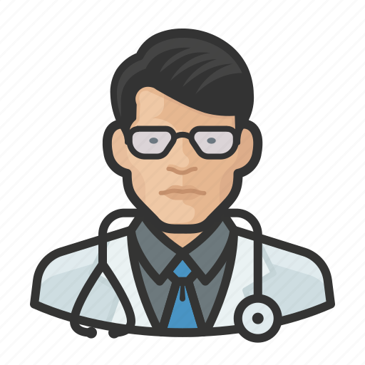 Asian, avatar, doctor, healthcare, male, user icon - Download on Iconfinder