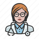 avatar, doctor, female, healthcare, user, woman icon