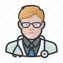 avatar, doctor, healthcare, male, man, user icon