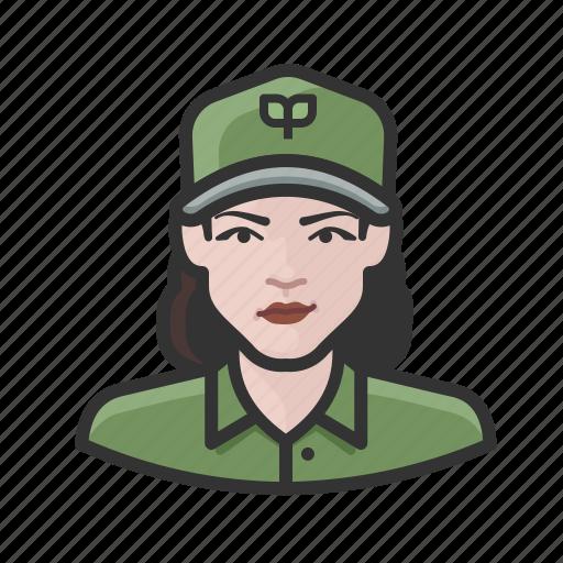 avatar, ecologist, environmentalist, female, user, woman icon
