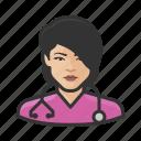 asian, avatar, female, healthcare, nurse, user