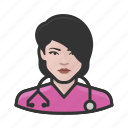 avatar, female, healthcare, nurse, user, woman icon