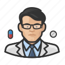 asian, avatar, healthcare, male, man, pharmacist, user icon