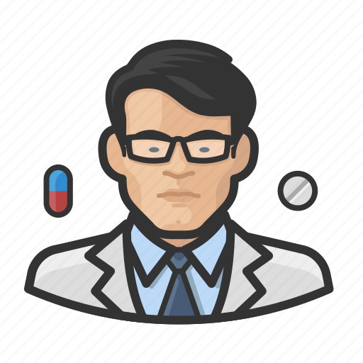 Asian, avatar, healthcare, male, man, pharmacist, user icon - Download on Iconfinder