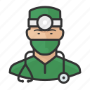 asian, avatar, doctor, healthcare, male, man, surgeon, user icon