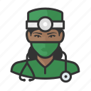 avatar, doctor, female, healthcare, surgeon, user, woman icon
