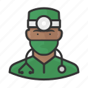 avatar, doctor, healthcare, male, surgeon, user icon