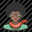 avatar, emo, female, millennial, user, woman icon