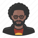 afro, avatar, emo, male, man, millennial, user icon