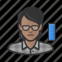 avatar, engineer, female, millennial, profile, user, woman