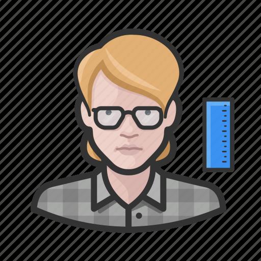 avatar, engineer, female, millennial, profile, user, woman icon