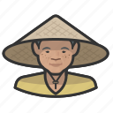 asian, avatar, cone hat, coolie, farmers, female, user