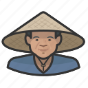 asian, avatar, cone hat, coolie, farmers, male, user