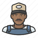 avatar, baseball cap, farmhand, male, overalls, user