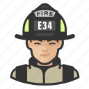 asian, avatar, female, firefighter, user