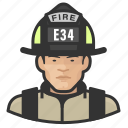 asian, avatar, firefighter, male, man, user