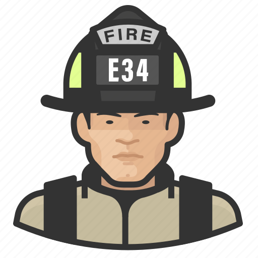 Asian, avatar, firefighter, male, man, user icon - Download on Iconfinder