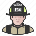 avatar, firefighter, male, man, user