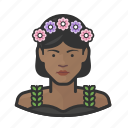 avatar, flower, girl, millennial, user, woman