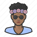 avatar, female, flower, girl, millennial, user, woman