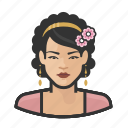 avatar, femal, flower, girl, millennial, user, woman