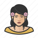 avatar, flower, girl, millennial, user, woman
