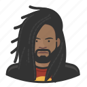 dreadlocks, rastafarian, male, african, avatar, reggae, user