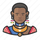 african, avatar, female, traditional, user icon