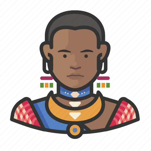 African, avatar, female, traditional, user icon - Download on Iconfinder