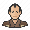 avatar, japanese, male, samurai, traditional, user icon