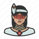 avatar, female, native, traditional, user