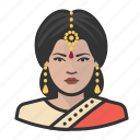 avatar, female, hindu, indian, user, woman icon
