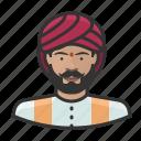 avatar, hindu, indian, male, turban, user icon