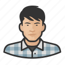 flannel, man, male, avatar, asian, user