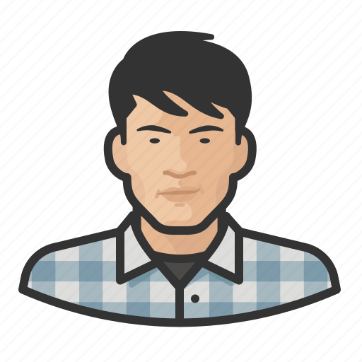 Asian, avatar, flannel, male, man, user icon - Download on Iconfinder