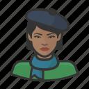 artist, avatar, beret, female, french, user, woman