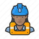 user, avatar, hard hat, female, woman icon