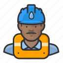 avatar, hard hat, male, man, user