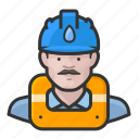 avatar, gas works, hard hat, male, man, user
