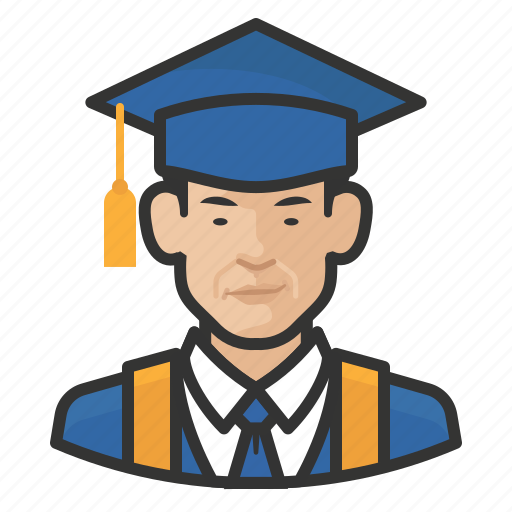 Asian, avatar, graduates, male, man, millennial, user icon - Download on Iconfinder