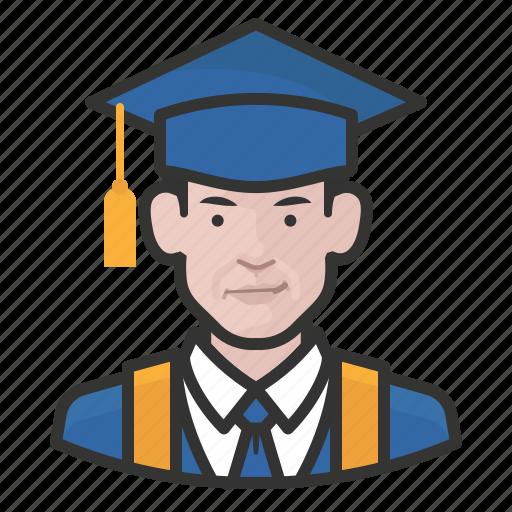 avatar, graduates, male, man, millennial, user icon