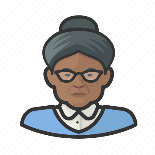 Elderly, granny, hairbun, old, old woman, woman icon - Download on Iconfinder
