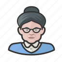 avatar, elderly, granny, old woman, user icon