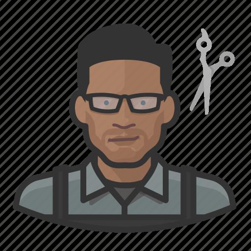 avatar, barber, hairdresser, male, user icon