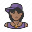 avatar, female, hip hop, user, woman icon